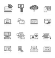 E-learning icon black vector image vector image