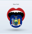 electoral vote of new york abstract mouth vector image