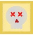 flat shading style icon halloween emotion skull vector image