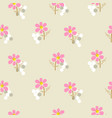 floral pattern in simple style with flowers vector image vector image