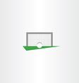 football soccer icon goal net vector image vector image