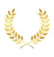 golden award laurel wreath winner leaf label vector image