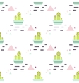 Green cactus in pot desert seamless pattern vector image