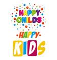 happy kids zone labels vector image vector image