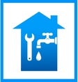icon with water tap and wrench vector image vector image