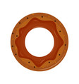 isolated donut icon vector image vector image