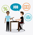 Job and work design vector image vector image