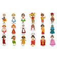 kids in national costumes set vector image vector image