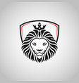king lion head mascot on white background vector image vector image