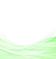 Light green speed swoosh line abstraction shadow vector image vector image