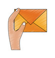mail envelope symbol vector image