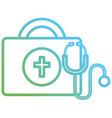 medical kit with stethoscope vector image vector image