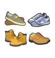 men shoes winter or summer sport boots types vector image vector image
