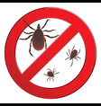 Mite spider Mite red Mite allergy Epidemic Mite vector image