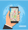 mobile gps navigation and tracking concept vector image vector image