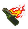 molotov cocktail icon vector image