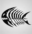 Monster Fish Tribal vector image vector image