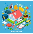 Mortgage Loan Concept vector image