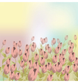 Pale pink Tulips flower composition vector image