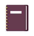personal diary on ring binders flat icon vector image