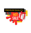 premium quality of products bought on sale in shop vector image vector image