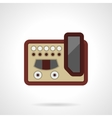 Professional guitar processor flat icon vector image vector image