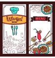 Restaurant menu food banners set vector image vector image