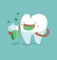 rinse your mouth out tooth concept of dental vector image vector image