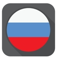 russia flag button round shape with long s vector image