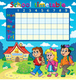 school timetable composition 5 vector image vector image