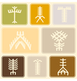 Seamless background with Touareg tattoo symbols vector image vector image