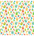 Seamless bright fun celebration festive pattern vector image vector image