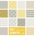 set 12 tiles with geometric patterns vector image vector image