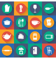 set icon of kitchen in flat design vector image