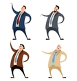 Set of businessman vector image vector image