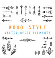 set of hand drawn design elements in boho vector image vector image