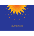 Shining magic sun Mandala Banner cover card vector image