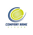 tennis ball logo vector image