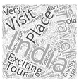 travel india costs Word Cloud Concept vector image vector image