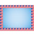 United States flag icons border vector image