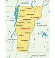 Vermont - map vector image vector image