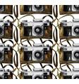 watercolor vintage camera pattern vector image vector image