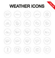 weather universal icons set thin line vector image vector image
