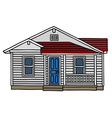 White wooden small house vector image vector image