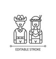 wild west linear icon vector image vector image