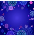 Winter design with pink and blue snowflakes on vector image vector image