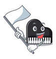 with flag piano mascot cartoon style vector image