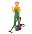 worker of cleaning service vector image