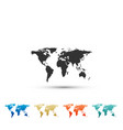world map icon isolated on white background vector image