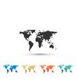 world map icon isolated on white background vector image